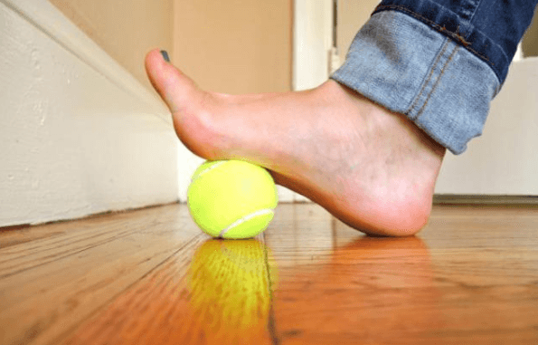 stretches for sore feet-tennis ball