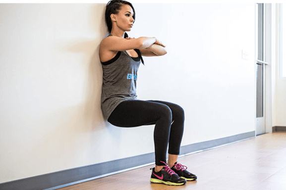 wall sit workout for knees