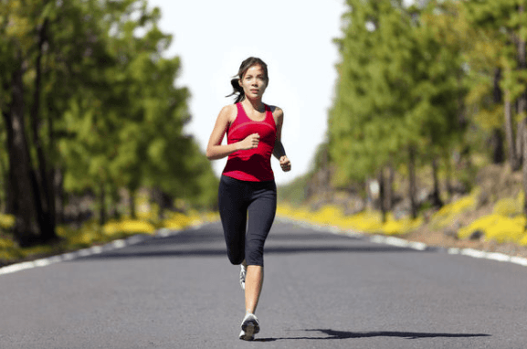 running with good posture
