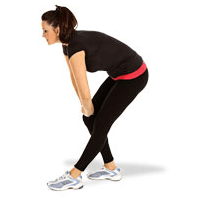 standing hamstring stretch pose