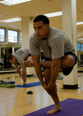 Glute and piriformis stretch