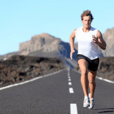 man with running improvements