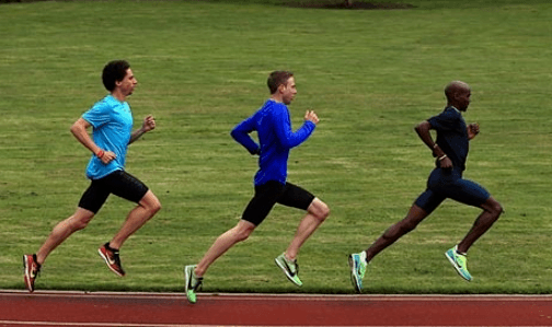 men training on the track